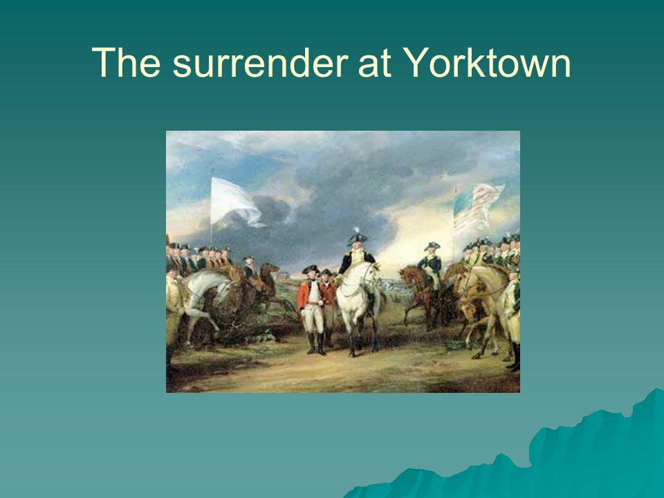 The surrender at Yorktown