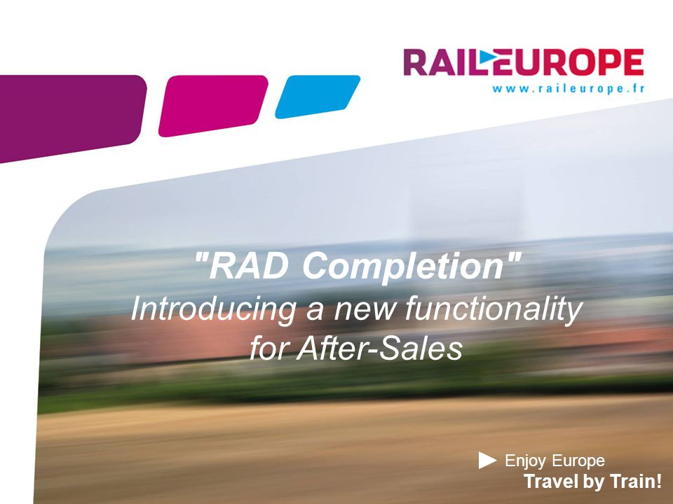 Introduction A new, interesting functionality for you  Processing directly a refund for French tickets is in some cases impossible for you, for instance when the refund request comes after the train departure date.