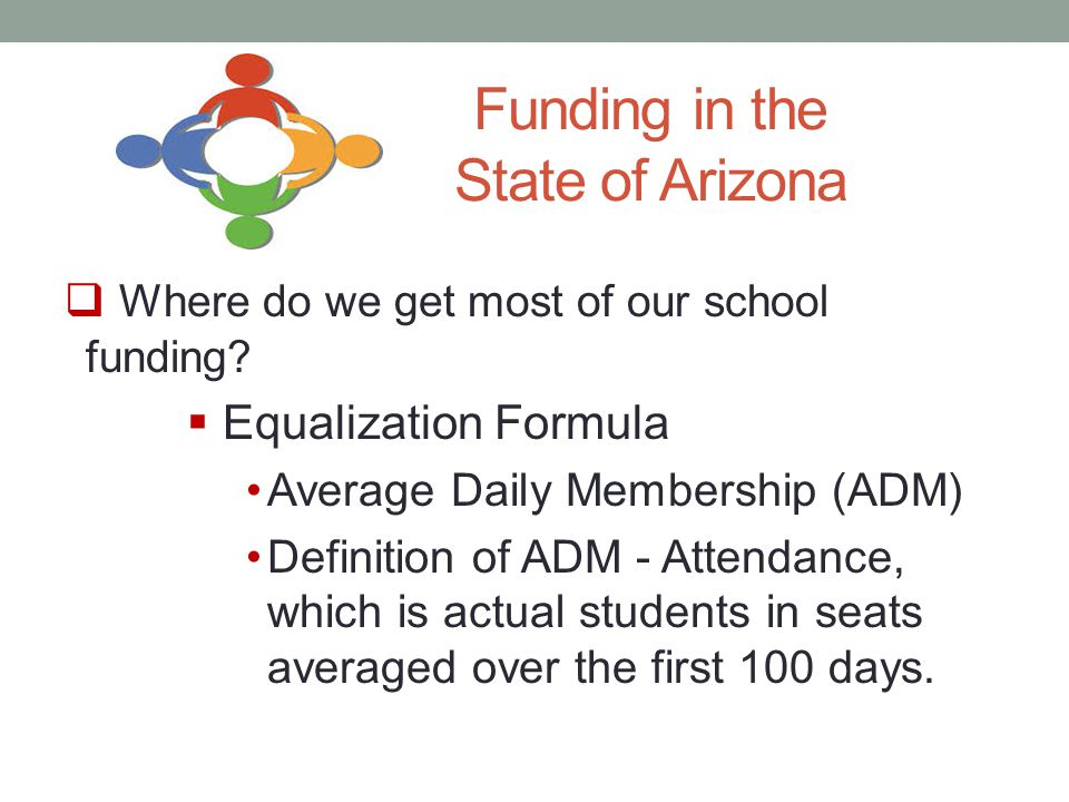 Funding in the State of Arizona  Where do we get most of our school funding.