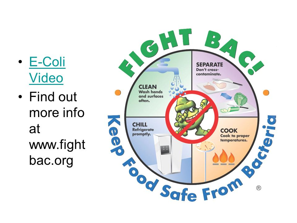 E-Coli VideoE-Coli Video Find out more info at www.fight bac.org