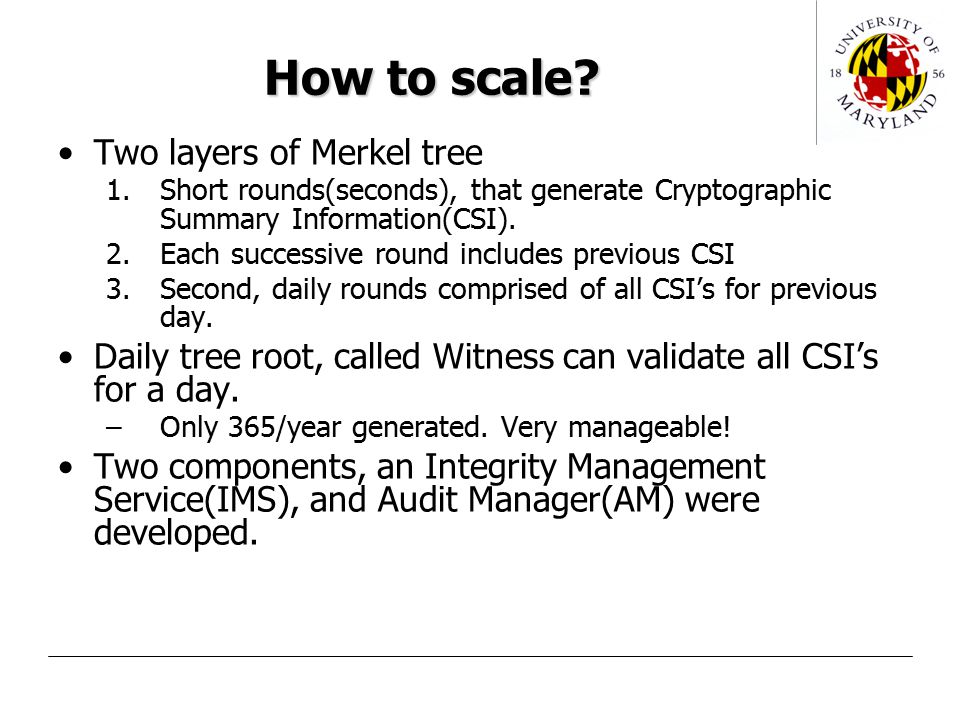 How to scale.