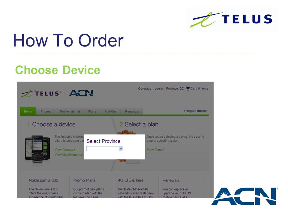 How To Order Choose Device