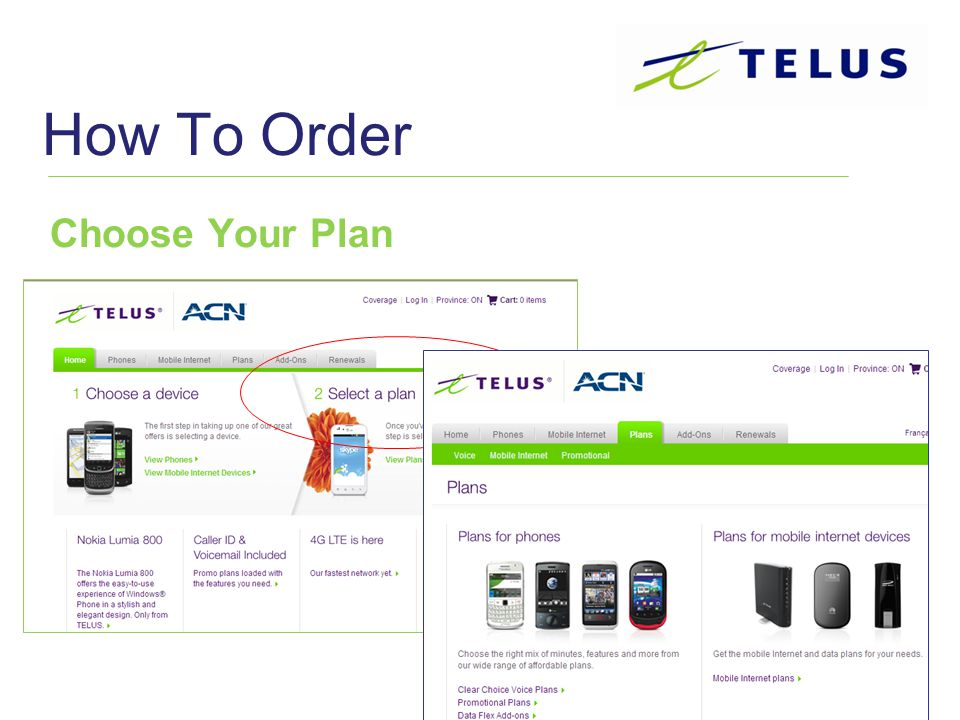How To Order Choose Your Plan