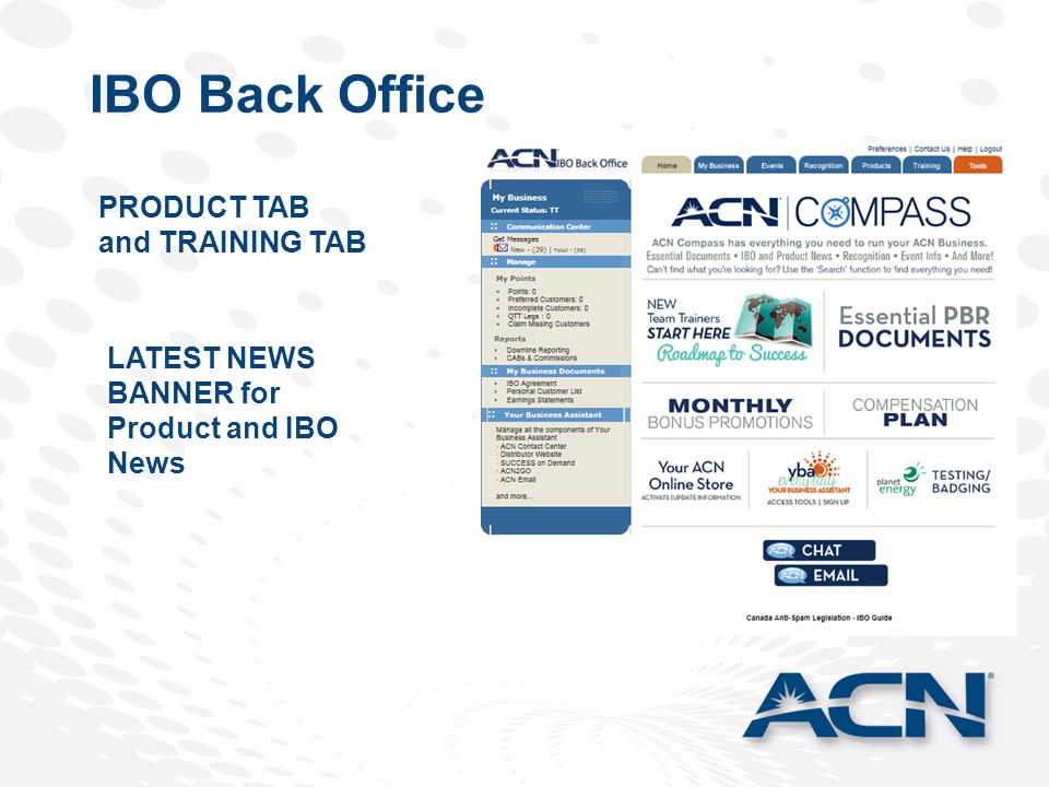LATEST NEWS BANNER for Product and IBO News PRODUCT TAB and TRAINING TAB IBO Back Office
