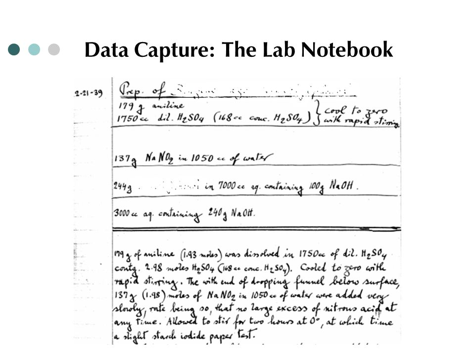 Data Capture: The Lab Notebook