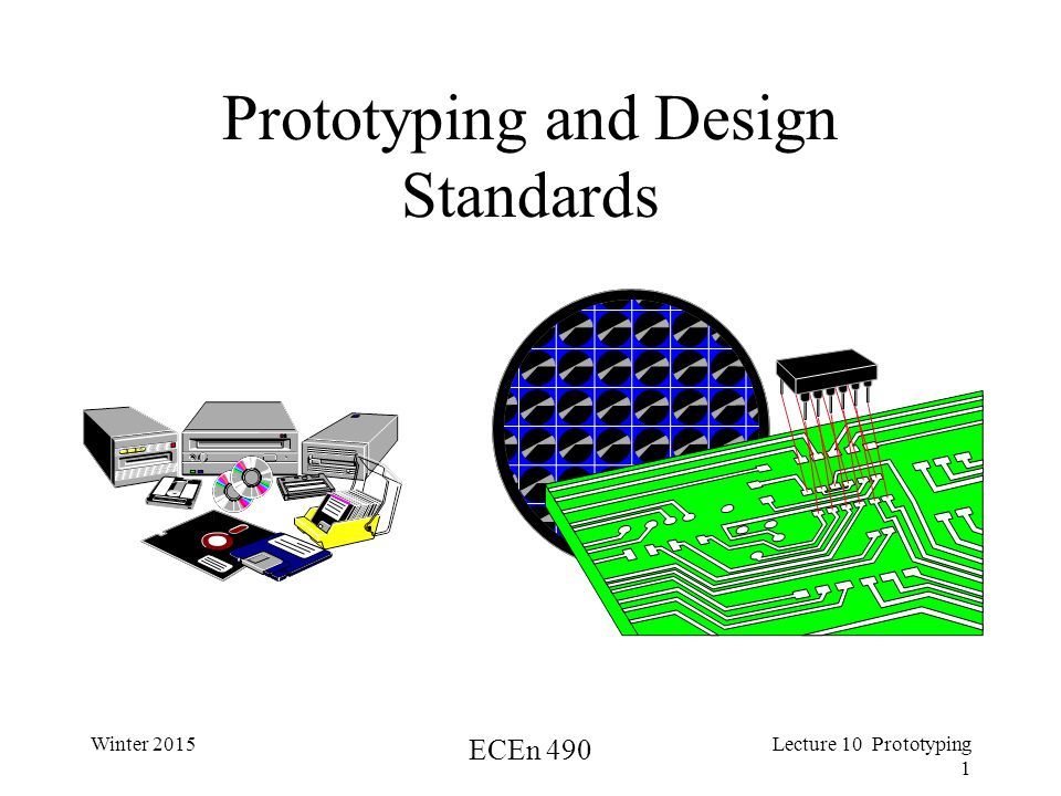 Winter 2015 ECEn 490 Lecture 10 Prototyping 1 Prototyping and Design Standards