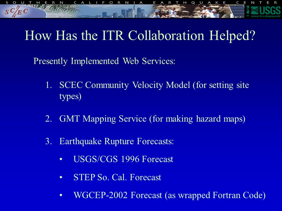 How Has the ITR Collaboration Helped.