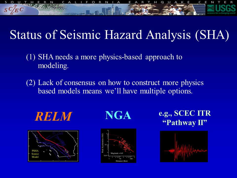 (1)SHA needs a more physics-based approach to modeling.
