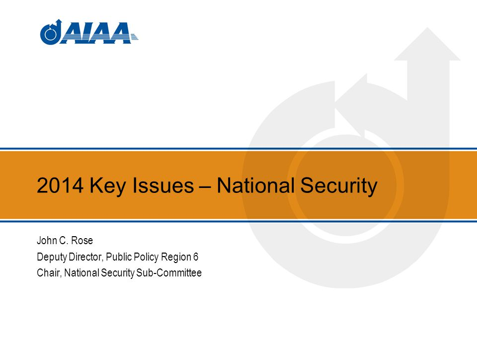 2014 Key Issues – National Security John C.