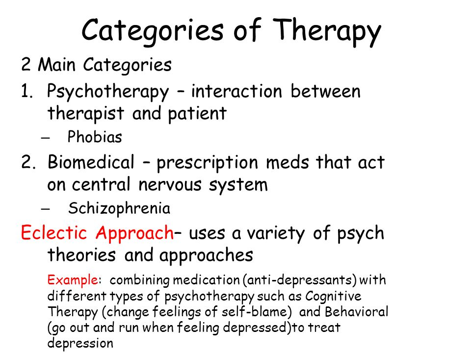 Behavioral Therapy Classical Conditioning – Counterconditioning (Pavlov)- procedure that trains people to make new responses to stimuli that currently trigger unwanted responses – 2 Types 1.Exposure Therapies – Flooding – Systematic Desensitization – Virtual Reality Exposure Therapy 2.Aversive Conditioning