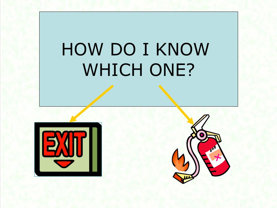 You MUST Exit the building when: You have been told by your department that when you hear the fire alarm, you are required to exit.
