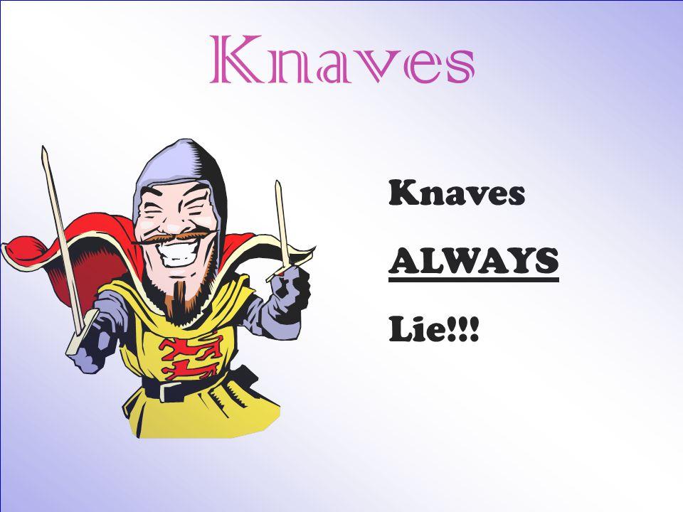 Knaves ALWAYS Lie!!!