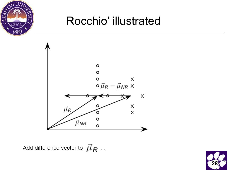 28 Rocchio' illustrated Add difference vector to …