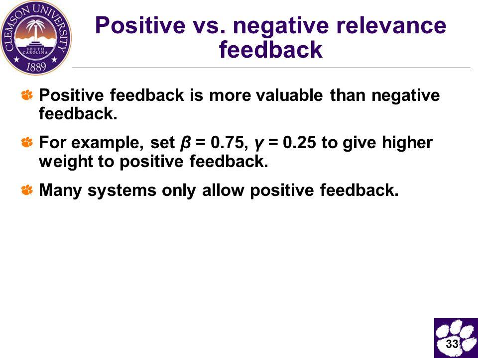 33 Positive vs.