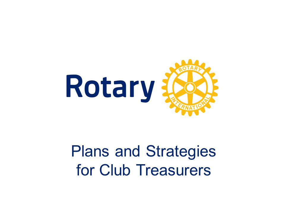 Plans and Strategies for Club Treasurers