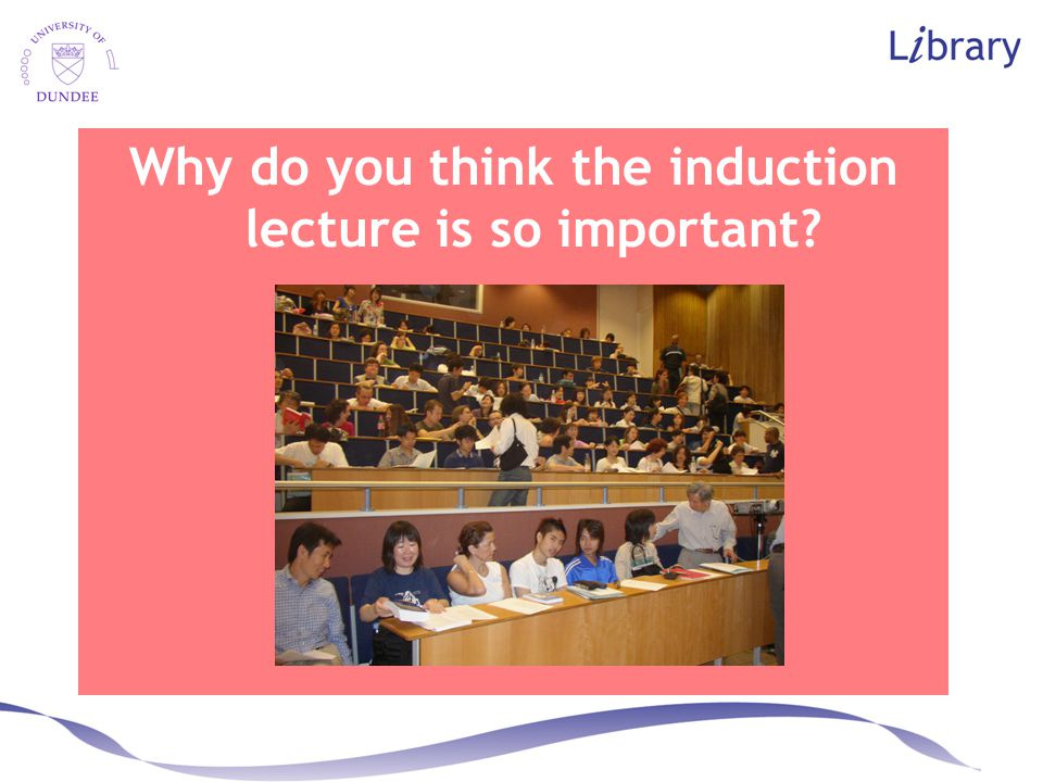 I don't do any lecturing. Have I chosen the wrong session to come to? o It may be that you are going to do some lecturing  Save yourself the hassle o