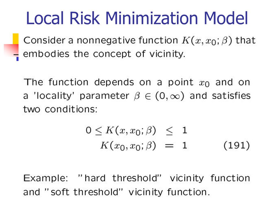Local Risk Minimization Model
