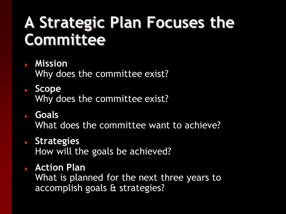 Selecting Committee Members n Be selective!!.