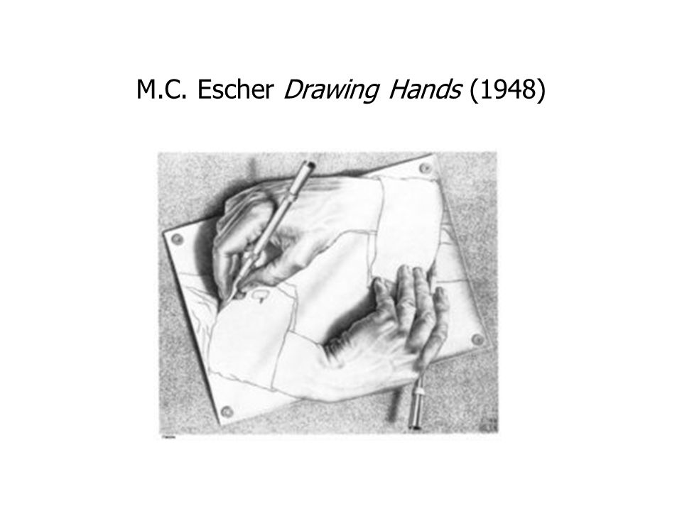 M.C. Escher Drawing Hands (1948)