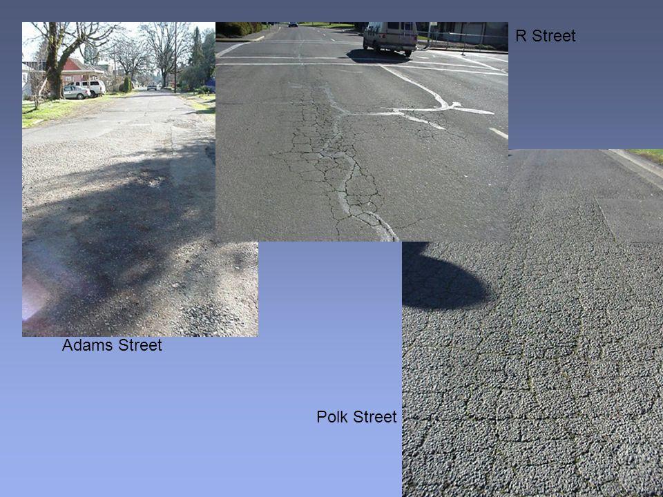 Adams Street R Street Polk Street