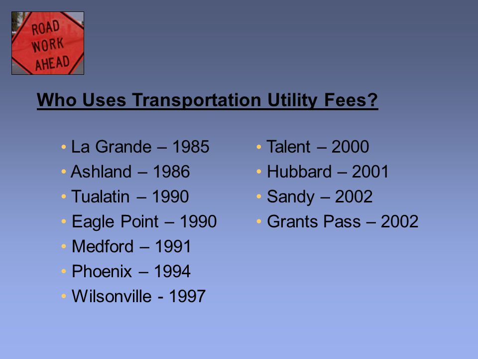 Who Uses Transportation Utility Fees.