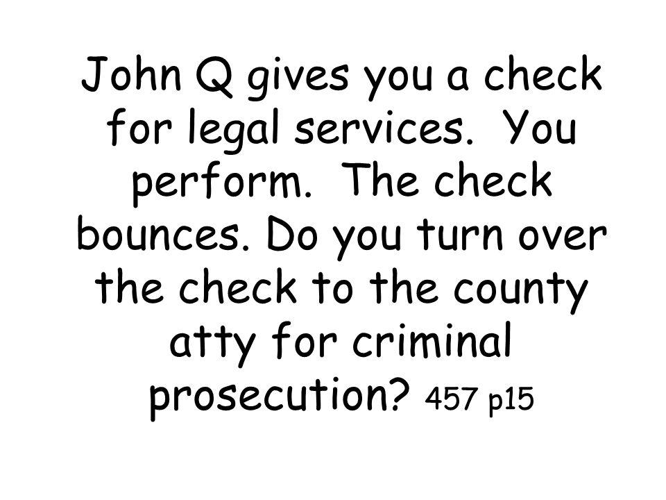 John Q signs a sworn statement that he is indigent.