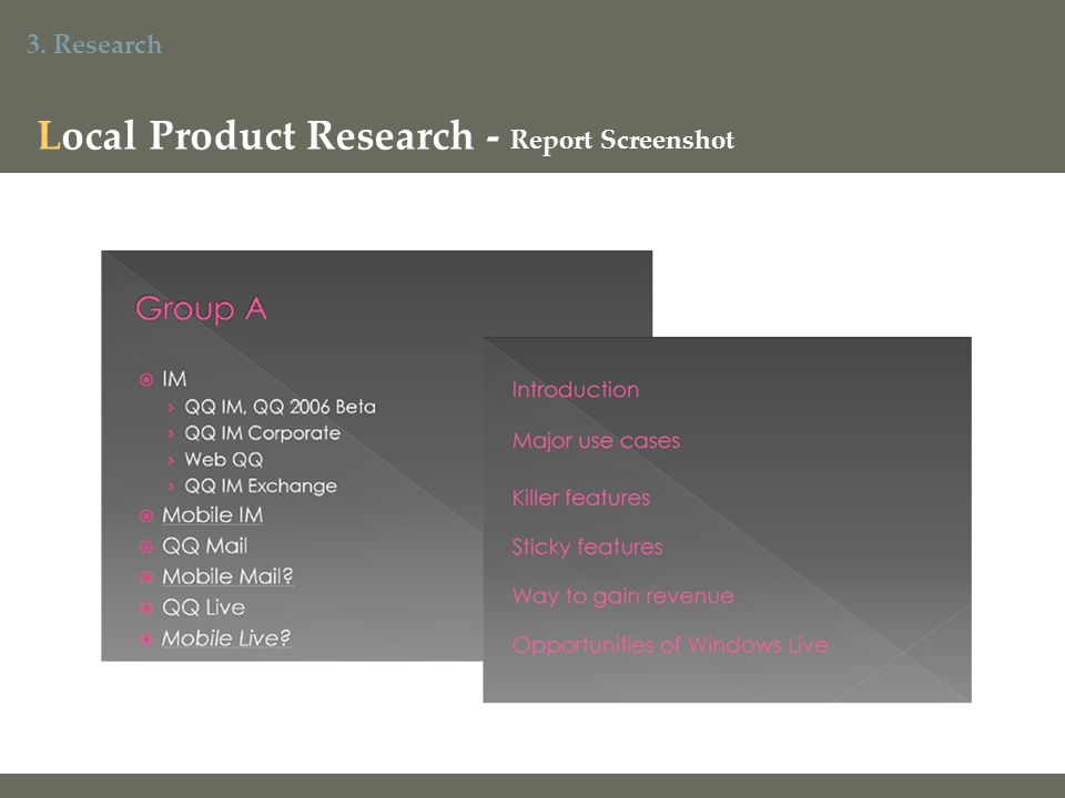 3. Research Local Product Research - Report Screenshot