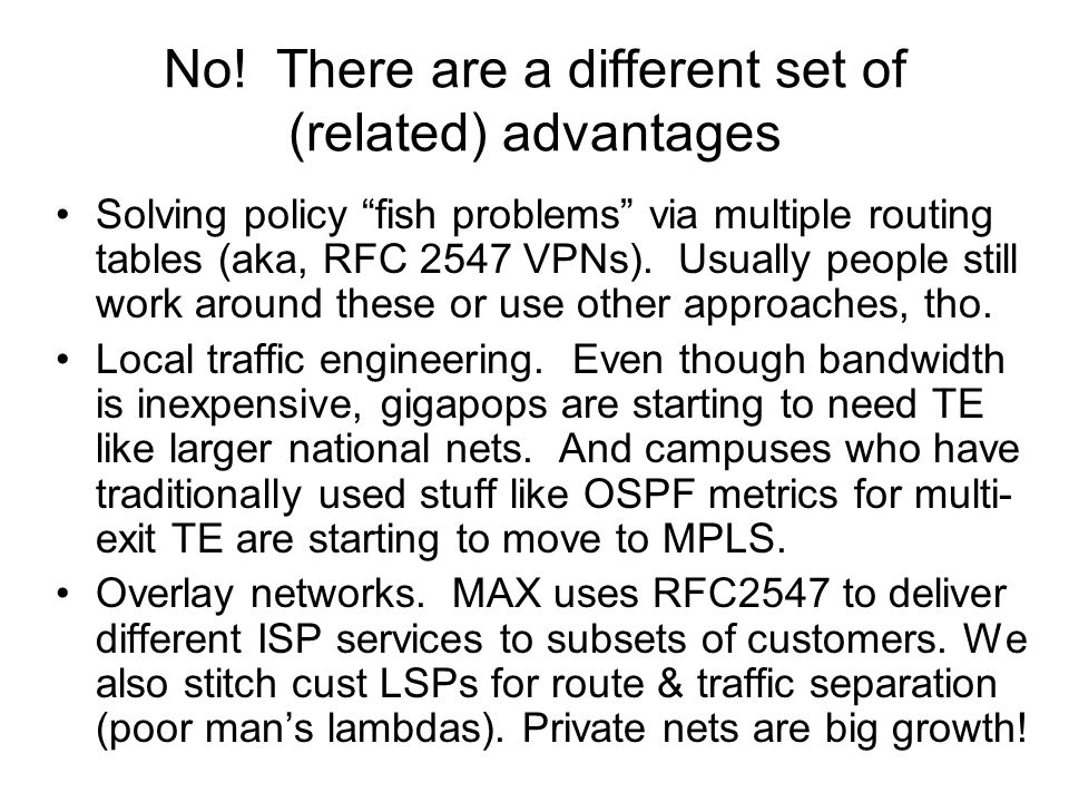 So what are the disadvantages.Increased complexity.
