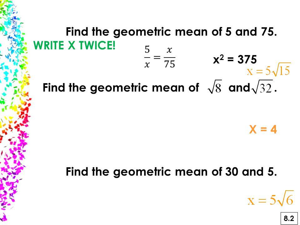 No-No's of Radicals 1. No decimals 2. No perfect squares in radicals 3.