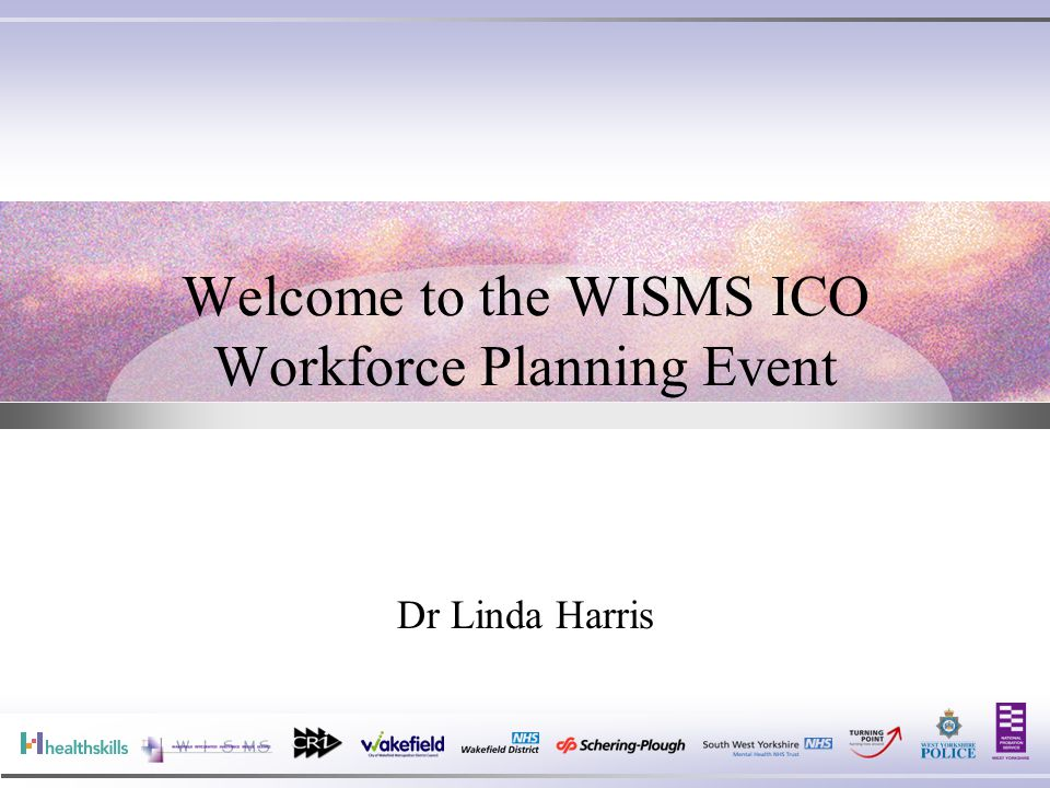 Welcome to the WISMS ICO Workforce Planning Event Dr Linda Harris