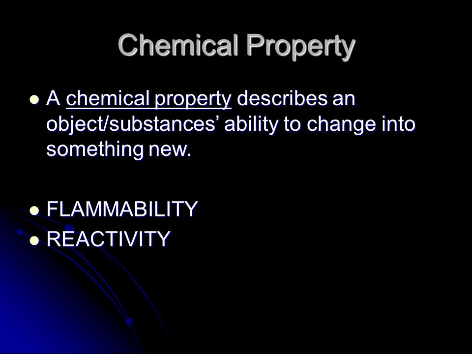 melting point melting point boiling point boiling point hardness hardness malleability malleability conductivity conductivity Some more examples of physical properties are: