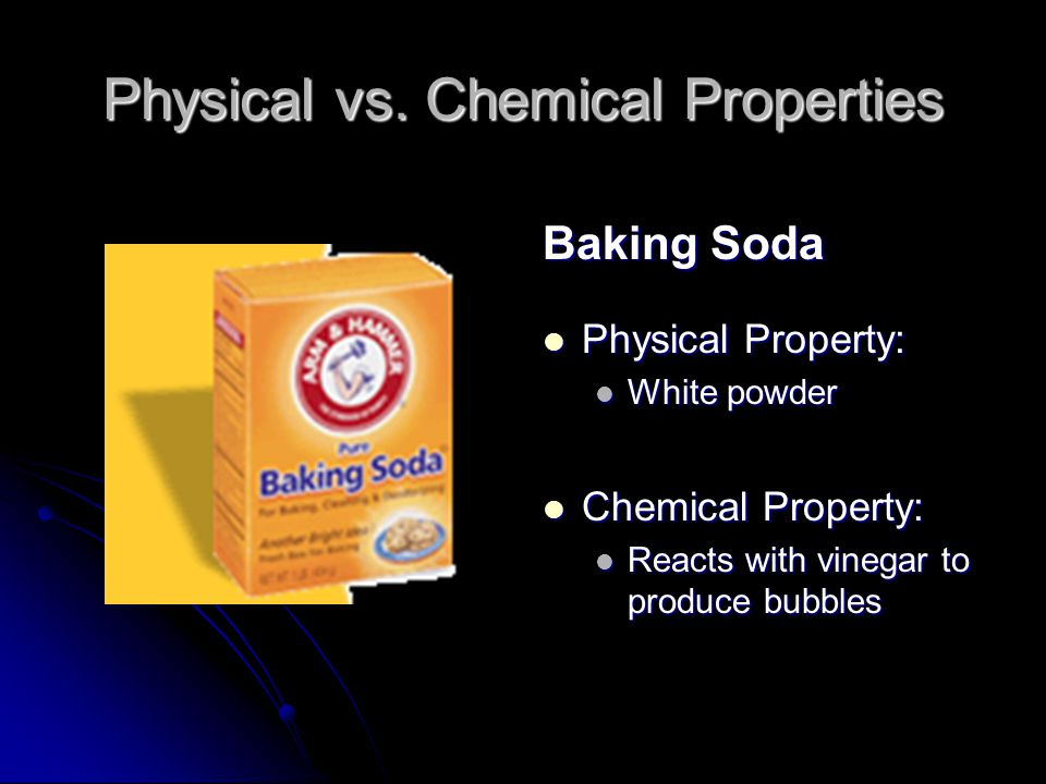 Physical vs. Chemical Properties Wood Physical Property: Grainy texture Chemical Property: Flammable