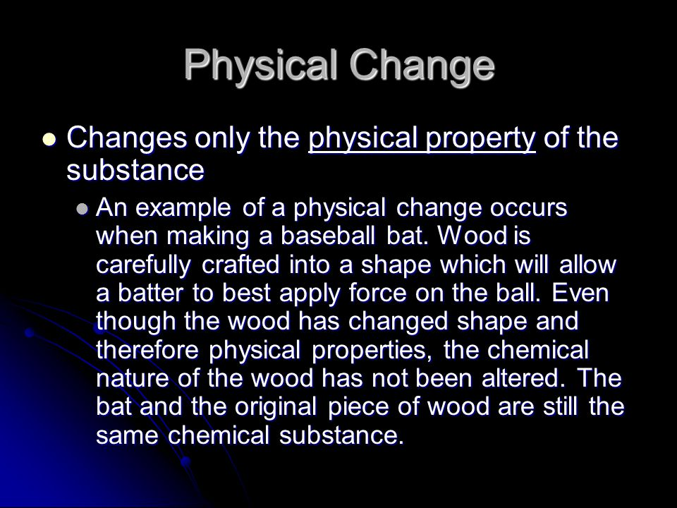Physical and Chemical Changes Same or Different