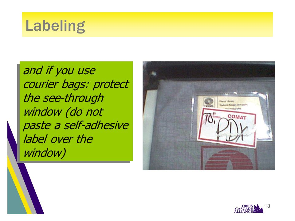 17 TO a forwarding site: in Attention Labeling FROM a forwarding site: below From