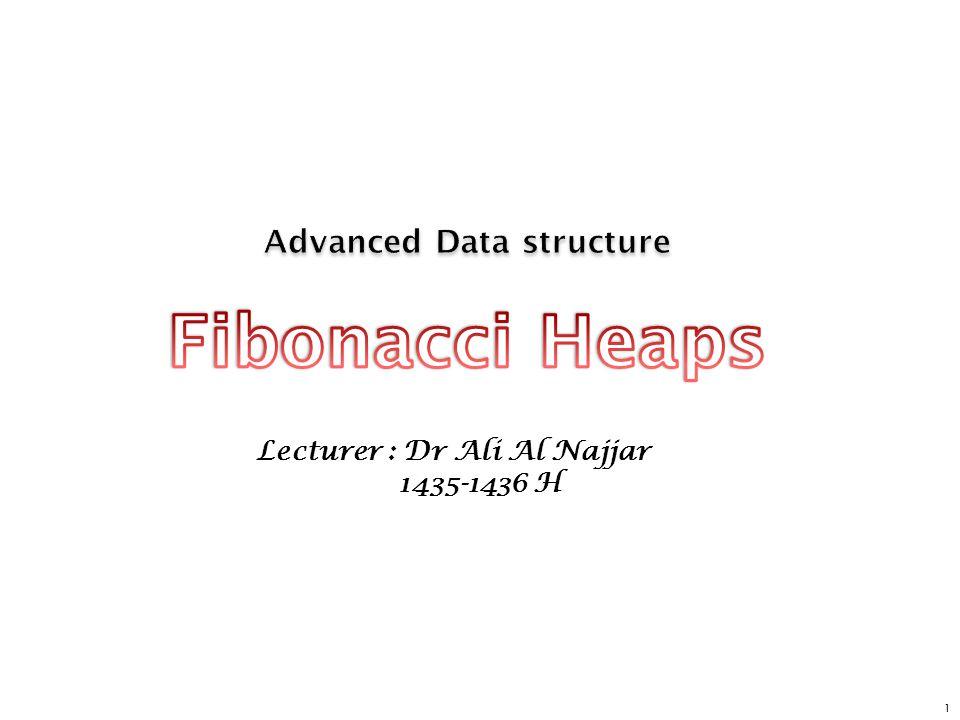 12 Fibonacci Heaps: Insert Insert.n Create a new singleton tree.