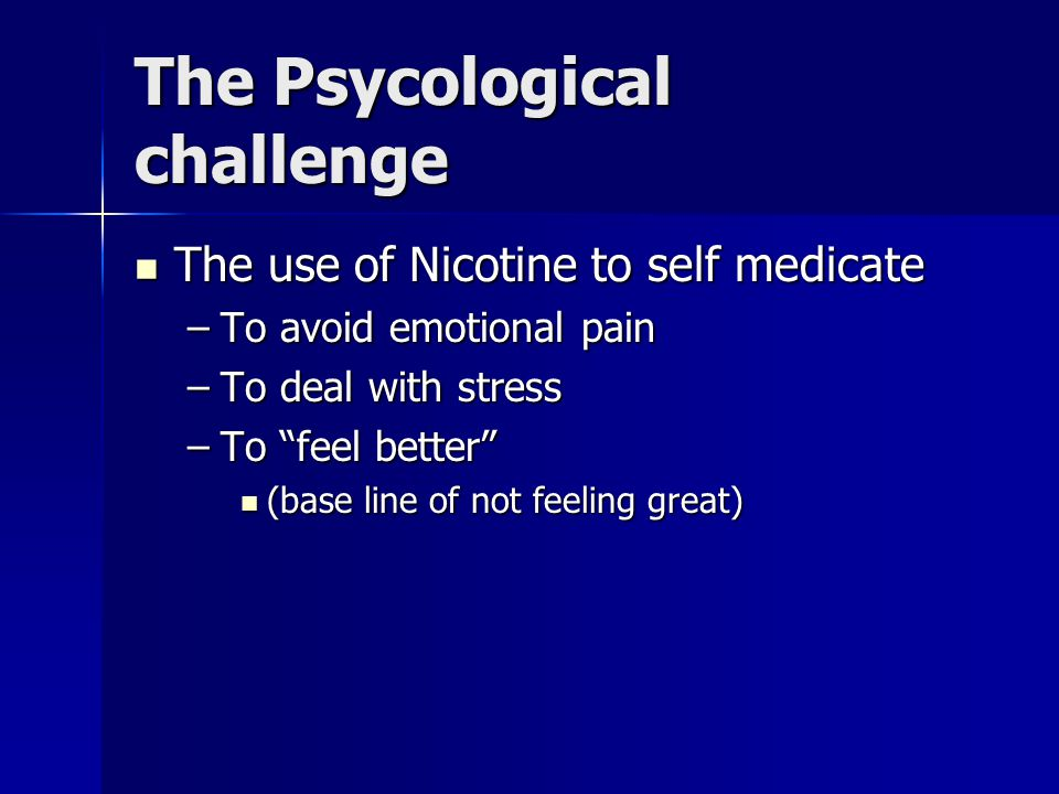 The Habitual challenge There are many circumstances in which people smoke simply out of the habit of association of smoking with those circumstances There are many circumstances in which people smoke simply out of the habit of association of smoking with those circumstances