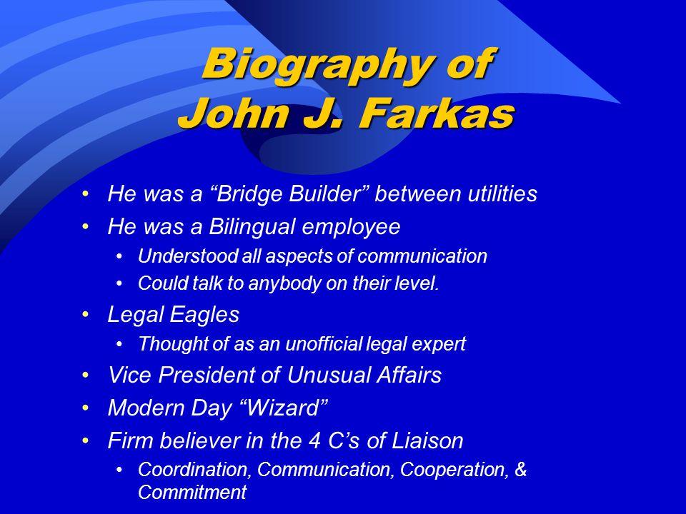 Biography of John J.