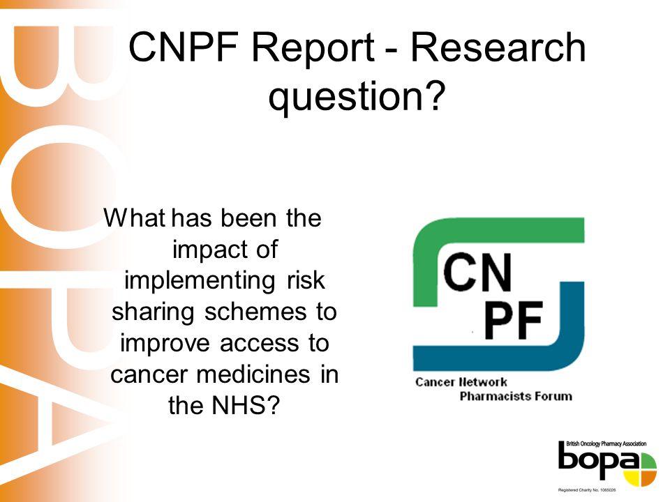 BOPA CNPF Report - Research question.