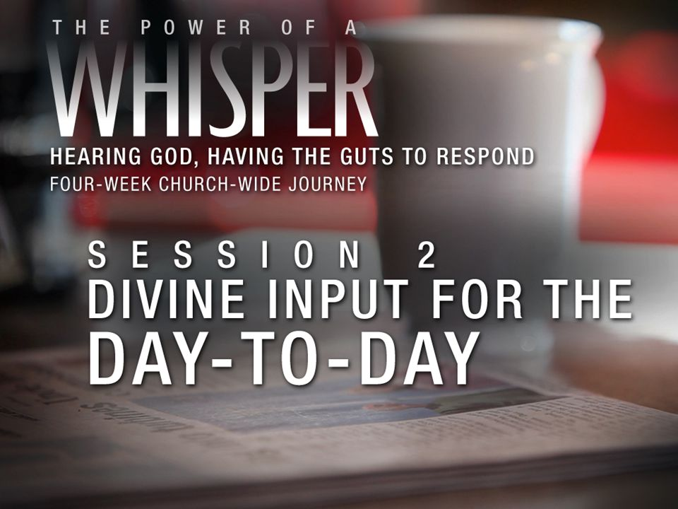 We discern God's whispers from other voices by asking: 1. God, is this prompting truly from you?