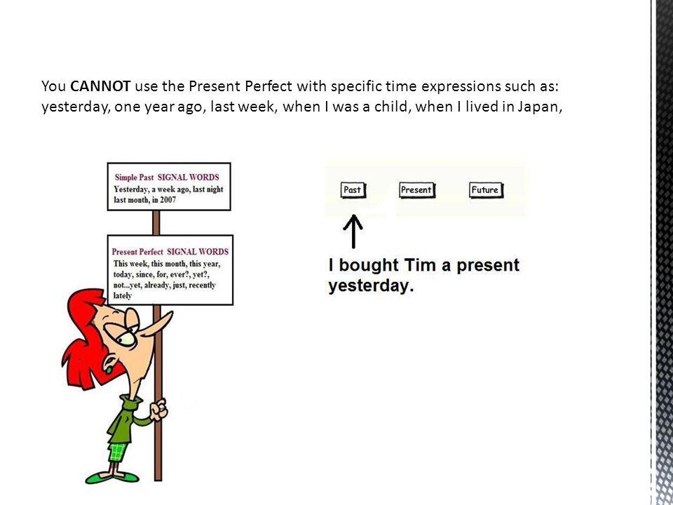 Write affirmative (+) or negative (-) present perfect sentences.