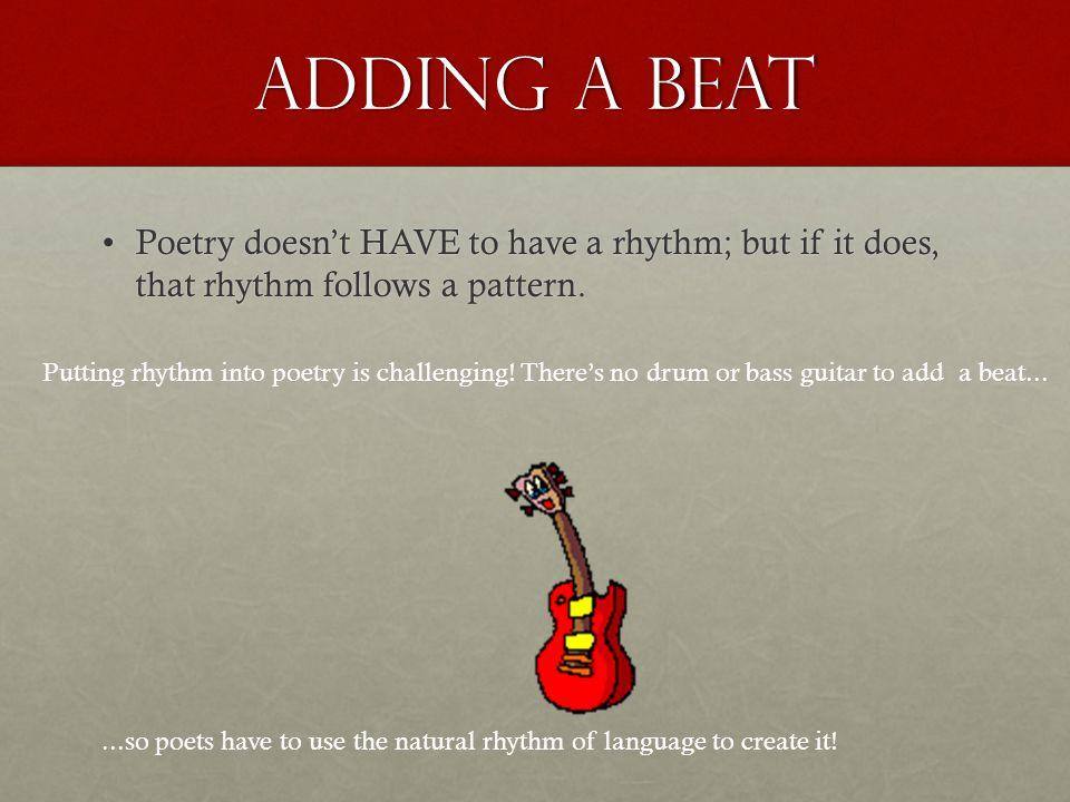 Poetic Meter The Rhythm of Words
