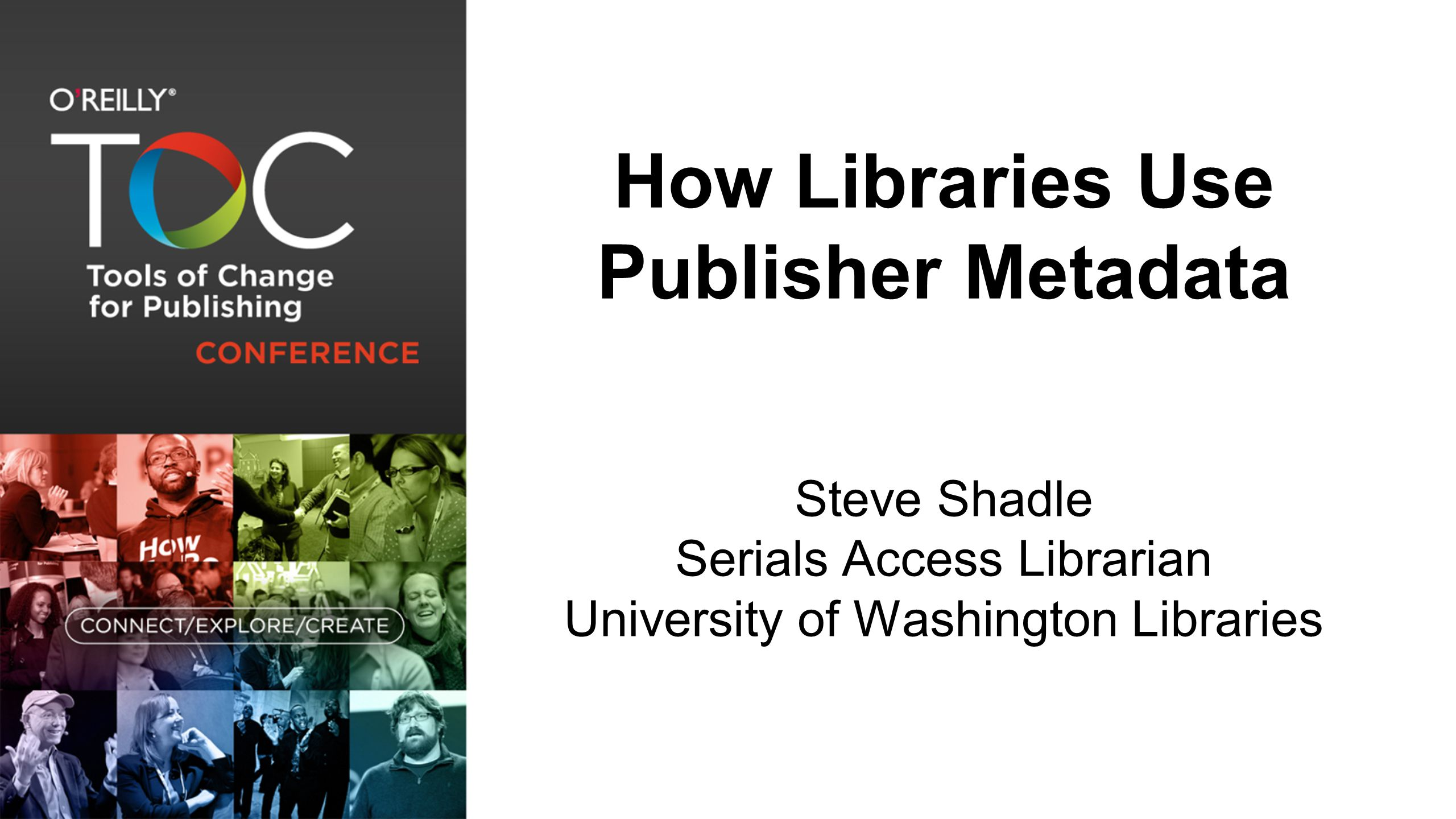 Purpose Provide an overview of how libraries provide access to publisher content using publisher-provided metadata  Library Catalog  OpenURL Link Resolver  Library Discovery System