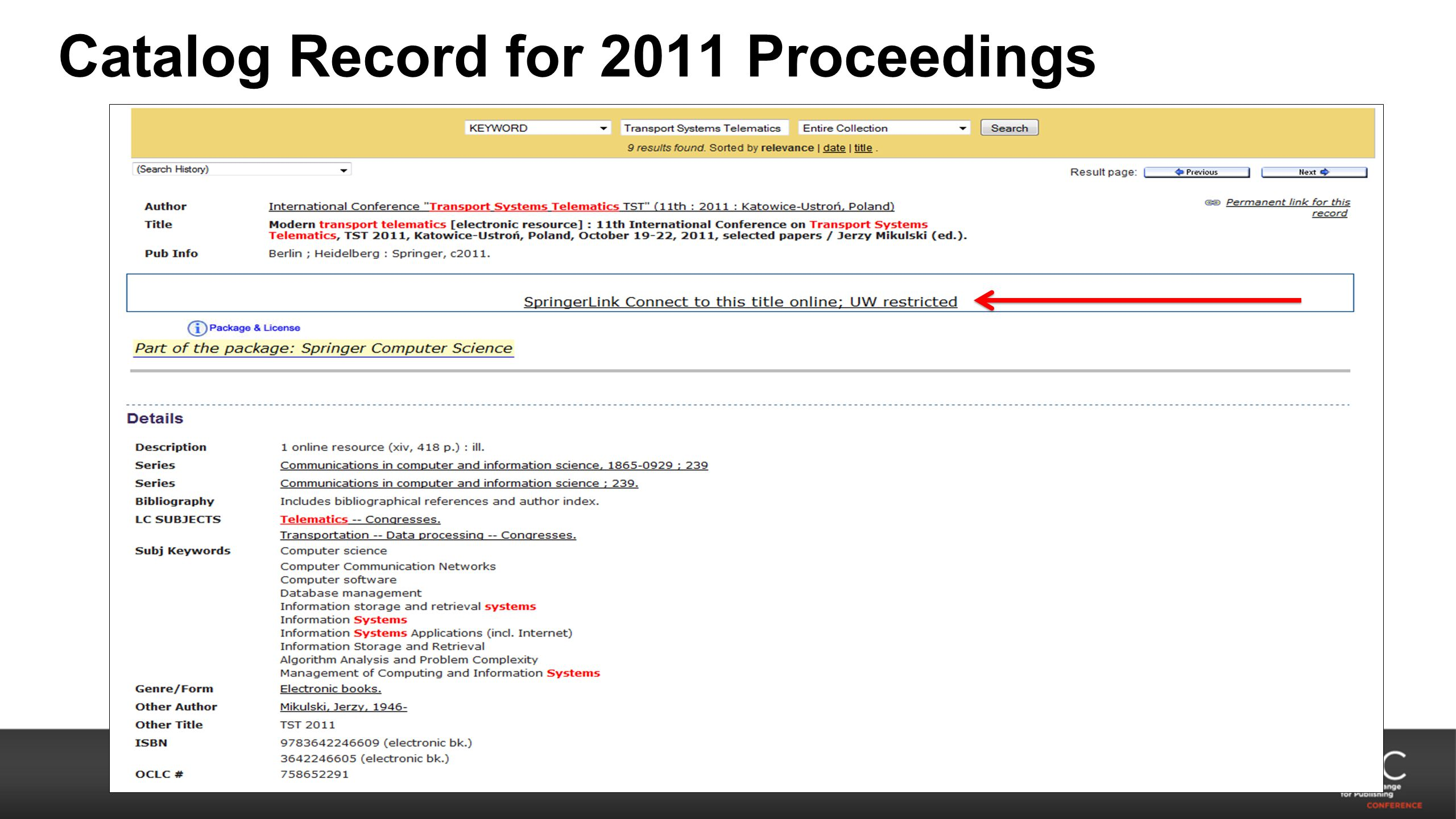 Catalog Record for 2011 Proceedings