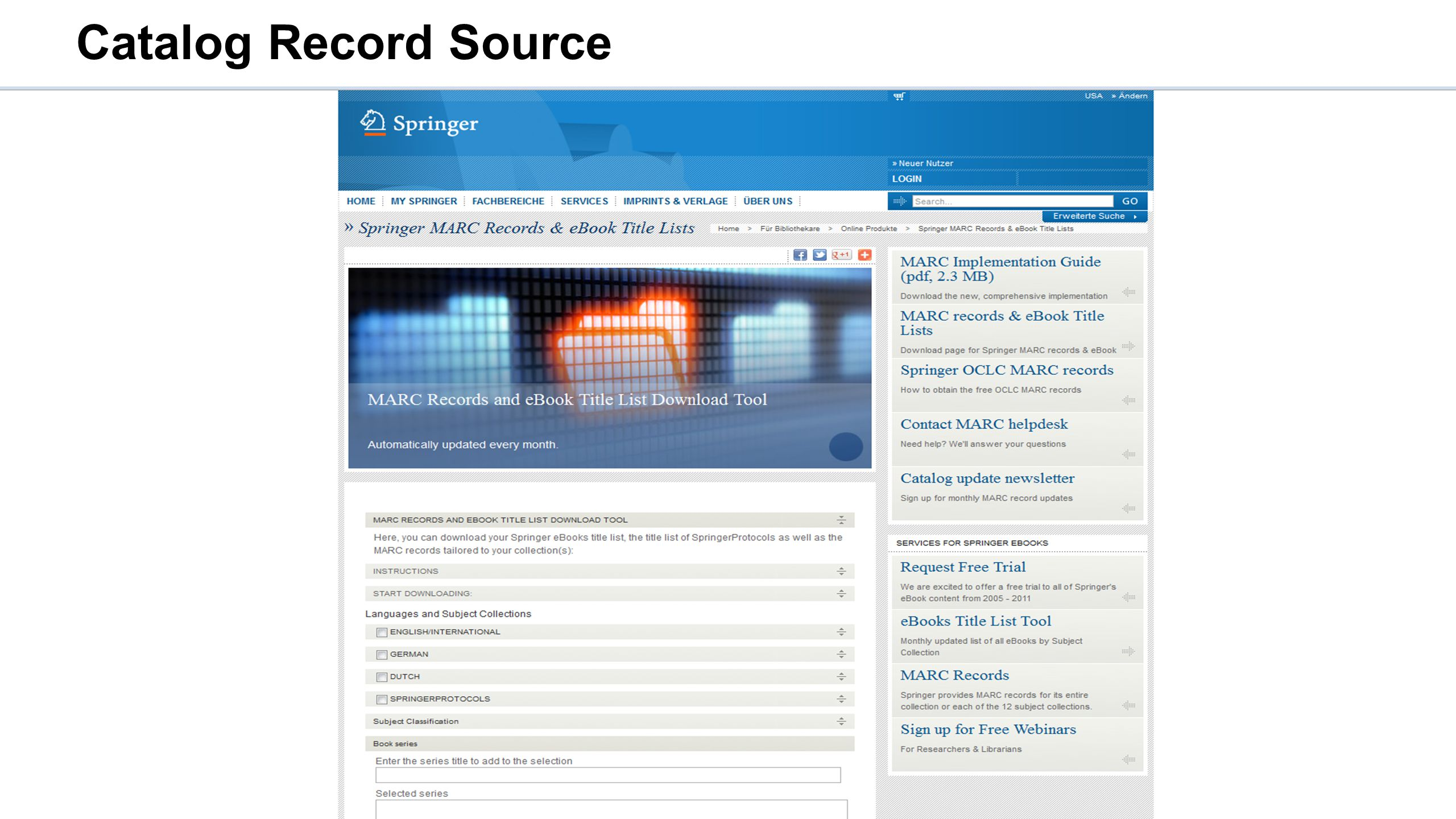 Catalog Record Source
