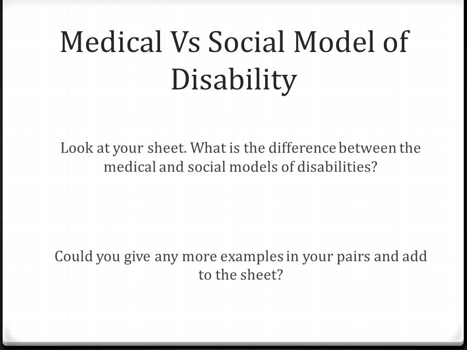 Group Task -On your tables you have been given a student from a different country with a disability -Put yourself in their shoes.