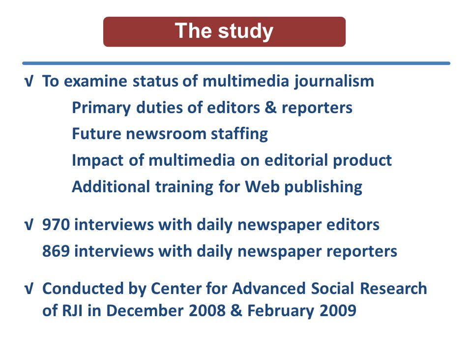 Overall quality of news product Impact of CND on editorial product