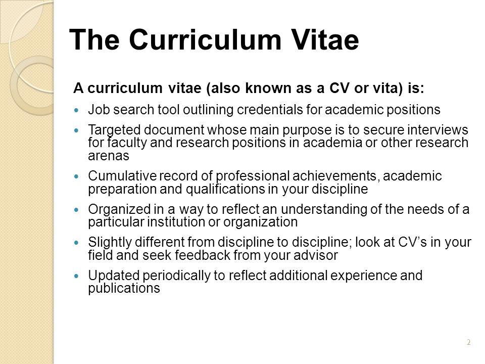 CV vs.
