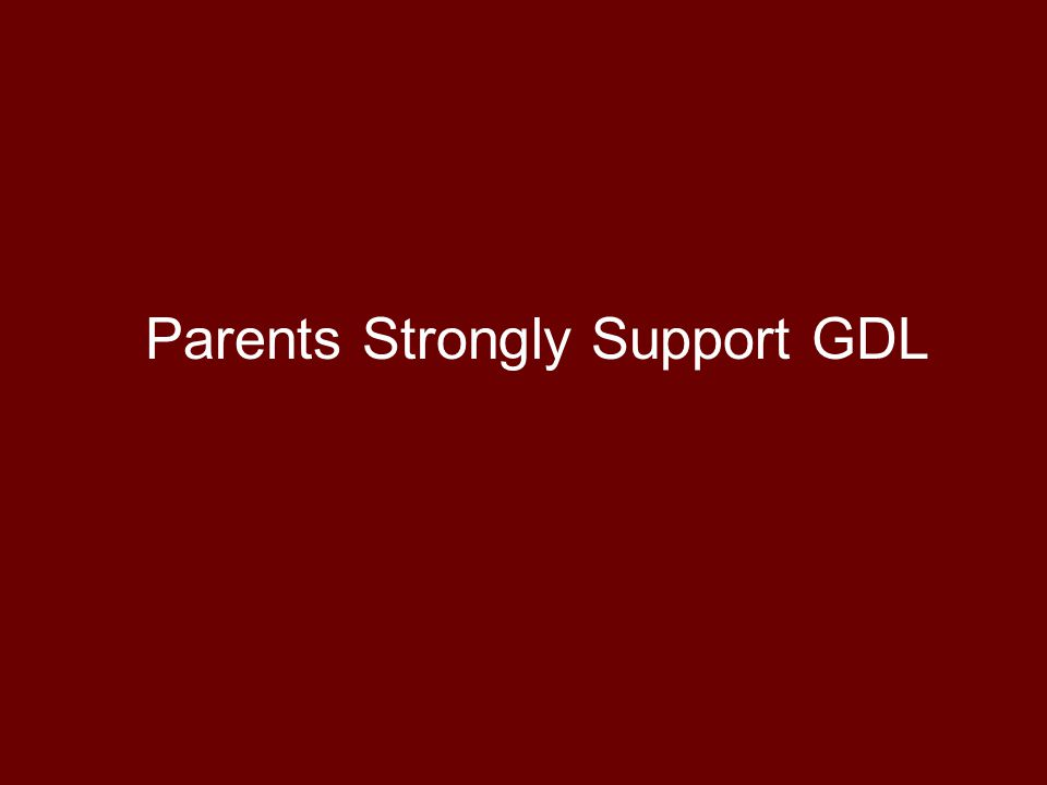 Parents Strongly Support GDL