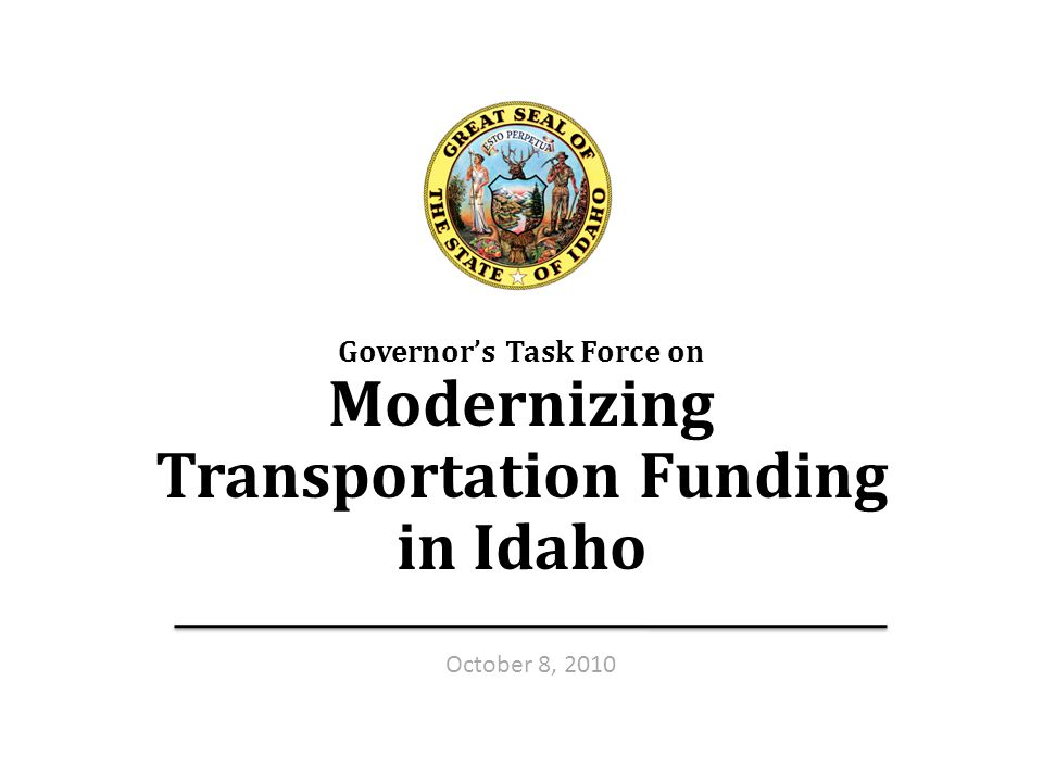 Transportation Funding Taskforce — Oct.