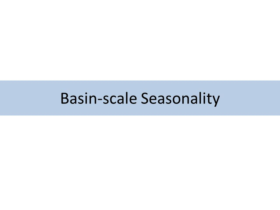 Basin-scale Seasonality